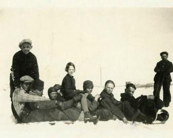 "Vintage Photo ""The South Dakota Gang"" Snapshot Antique Photo Black & White Photograph Found Paper Ephemera Vernacular - 7"