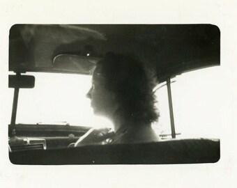 "Vintage Photo ""The Hitchhiker"" Snapshot Photo Old Antique Photo Black & White Photograph Found Photo Paper Ephemera Vernacular - 158"