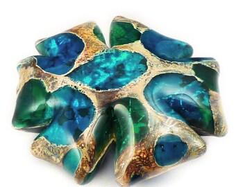 Sea Rocks bead Tutorial lampwork Sea Rocks Glass bead How to make glass beads Glass bead tutorial Anne Londez Instant Download Sea Rocks