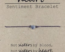 Like a Sister Friendship Bead Bracelet, Dainty Bead Bracelet, Sister in Law Gift, Best Friend Bracelet Gift, Sorority Sister Bracelet,