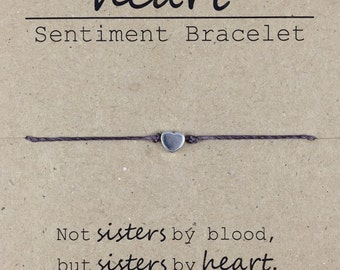 Best Friend Gift, Sister in Law Gift, Like a Sister Friendship Bracelet, Dainty Bead Bracelet, Sorority Sister Bracelet