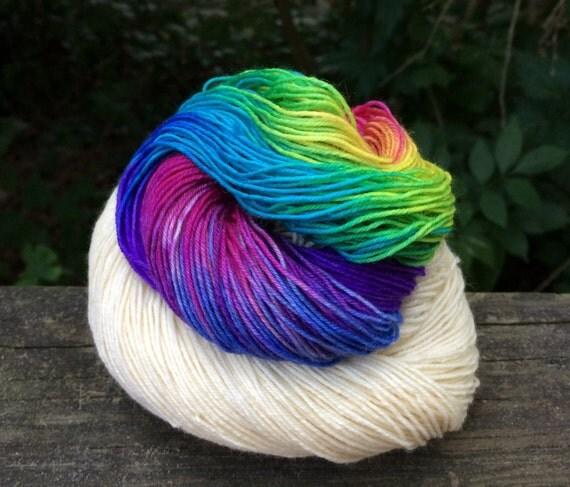 Hand Dyed Yarn, Merino/Cashmere, Hand Dyed Sock Yarn, Hand Dyed, Merino,