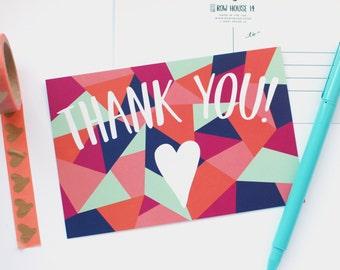 Thank You Postcard - Geometric Post Card Set