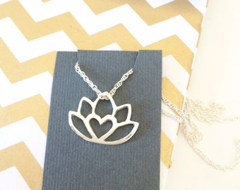 protea pendant / protea necklace / lotus necklace / king protea Africa love