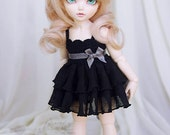 Black dress for TINY bjd LittleFee