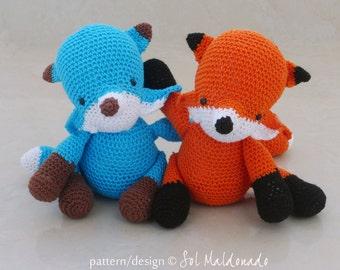 Fox Amigurumi Crochet Pattern PDF - softie amigurumi Toy foxes crochet pattern - Instant DOWNLOAD