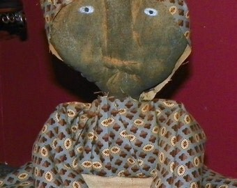 Anna -  Primitive Grungy Doll Toaster Cover
