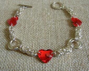 Byzantine Roses & Hearts Sweetheart Bracelet