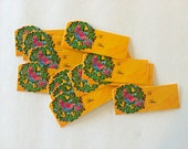 Vintage 1970s Christmas gift tag / gift wrap / to and from / retro / kitsch / lot of tags / unused / set of 12 / peacocks