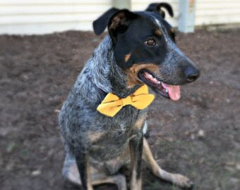 Satin Dog Collar Pointed Bow Tie - Pet Accessory - Dog Wedding Attire - Dog Accessories - Cat Acessories - Wedding Dog Bow Tie - Customize