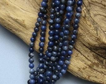 Sodalite - 6mm Round - 15 Inch Strand of 66 Beads