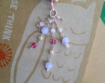 Pretty Pink Bookmark Beaded Book Thong Girly Book Club Easter Party Favor