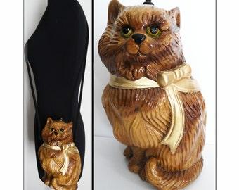 Timmy Woods Handbag   Cat Purse   Timmy Woods Purse   Kitty Kat Purse   Hand Carved  