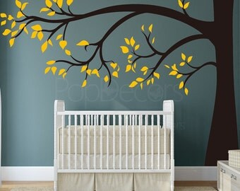 "Baby Nursery Tree (96"" H)- Nursery Tree Wall Decals Kids Room Wall Decal Removable Vinyl Wall Art-Designed by Anita Roll Anita-021"