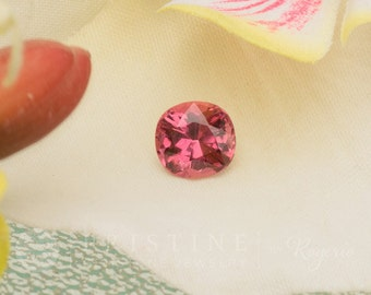 Pink Tourmaline Cushion Shape 8 x 7.7 MM Loose Gemstone