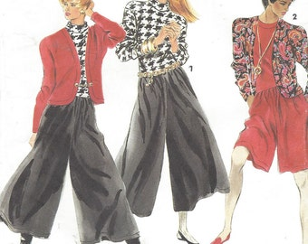 90s Womens Knit Jumpsuit & Dolman Sleeve Jacket Simplicity Sewing Pattern 7515 Size 6 8 10 12 14 16 18 20 22 24 Bust 30 1/2 to 46 UnCut