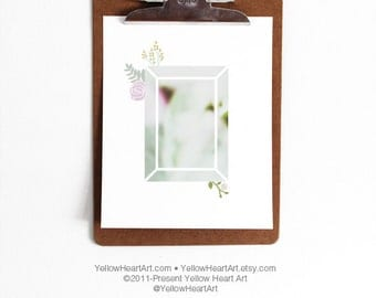 Gemstone Floral Trendy Art by Yellow Heart Art