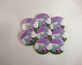 Princess Amethyst Genderfluid Pride - Pride Ponies - My Little Pony LGBTA 32mm badge