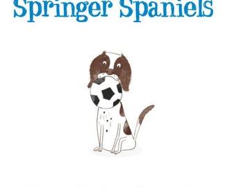 Springer Spaniels book, dog lover gift, signed copy.