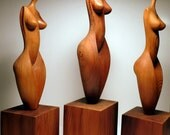 Abstract Wood Female Figures - Pose Series