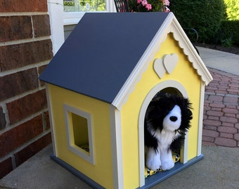 American girl doll pets: dog house, large yellow