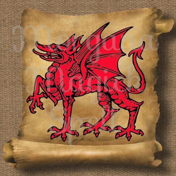 Welsh Dragon Royalty Free Clip Art