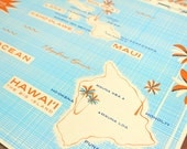 Hawaiian Islands - 24x18 Screen Printed Map