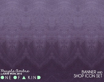 Purple Ombre - banner & shop icon set