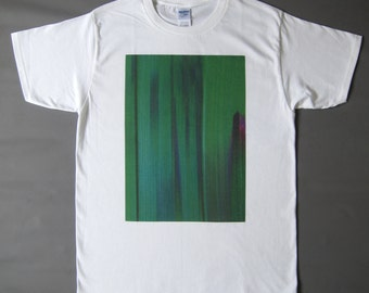 Green Glitch printed T-shirt (made to order)