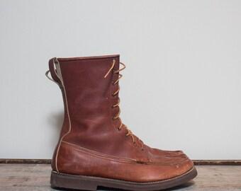 11.5 | Men's Vintage G.H. Bass & Co. Quail Hunter Moc Toe Work Boots