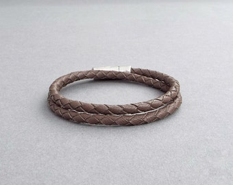Mens Leather Bracelet, Braided Bracelet, Gift for Him, Anniversary Gift