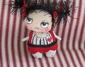 OOAK  cloth doll ,  ornament doll , fabric doll , gift for her , decorative doll,