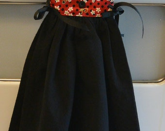 Kitchen Towel Dress, Red and Black