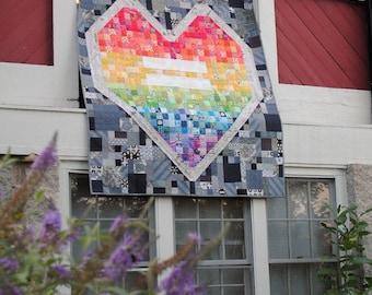 Love Wins Heart quilt