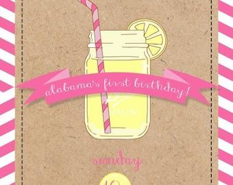 Pucker Up Lemonade Invitations
