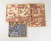 antique RICHTER'S ANCHOR building blocks,stone building blocks,architecture set,vintage construction set,No.16, circa 1890