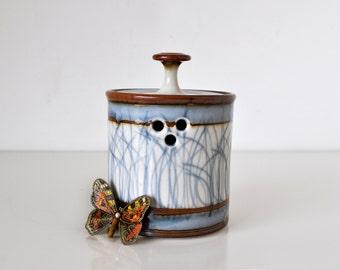Vintage Sam Scott Porcelain Garlic Jar
