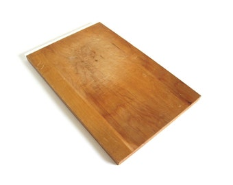 Wooden Cutting Board Vintage Large Wood Cutting Boards Worn Food Photography Prop Pull Out from 1940s Kitchen Cabinets