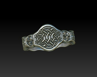 signet ring celtic ring celtic band wedding band wedding ring   ladies signet ring mens ring TR12
