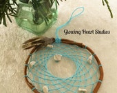 Turquoise Dream Catcher - natural willow branch and white turquoise howlite stones
