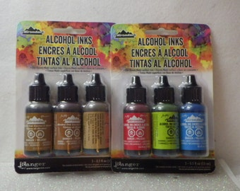 Alcohol Inks 6 Different Colors by Adirondack