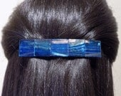 Large Glass Barrette For Thick hair/ Handmade Womans Gift