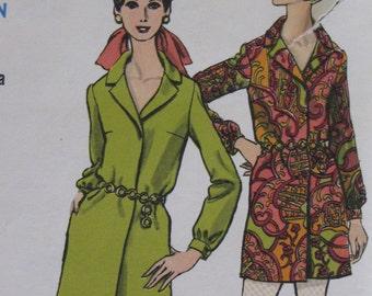 Vintage Vogue Shirt Dress and Slim Pants Pattern - Size 12 - Bust 34 - Vogue 7293