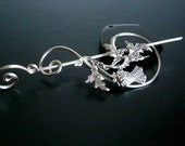 Scottish Thistle Brooch pin, Shawl Pin, Scarf Pin, Sweater Brooch, Knitting Accessories, Silver Wire pin