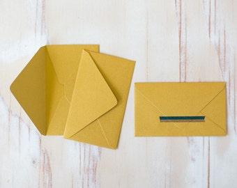 "Rich Gold Metallic Mini Note Envelopes - 10 pc - 2.125"" x 3.625"""