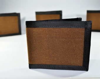Waxed Canvas Wallet // Tobacco Brown Wallet - Bifold Wallet - Everyday Carry Wallet - Gift for Him - Father's Day Gift - Made to Order