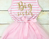 Big Sister Tutu Dress / Custom Sister Dress / Custom Birthday Dress