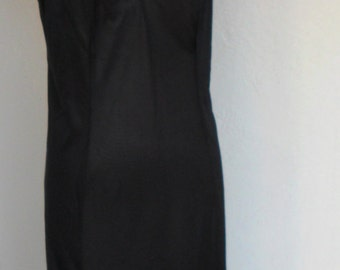 Vintage Maxi Full Slip Black Kayser Size 40 Slip Dress