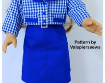 "1829 Valspierssews Doll Clothes Pattern Fully lined Jacket to fit 18"" American Girl Doll"