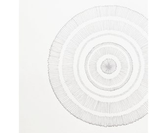 SHINE Silkscreen Print | Wall Art - Metallic Silver